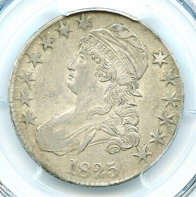 1825 Capped Bust Half Dollar, PCGS AU53, CAC Approved