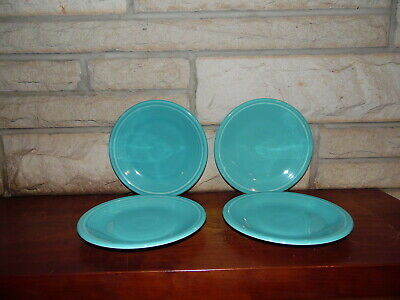Fiesta 7 1/4 Salad Plate Turquoise  set of 4  NEW Never Used Fiestaware