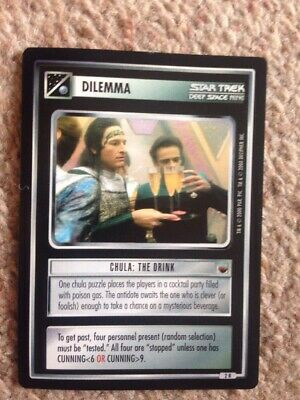 Star Trek Deep Space Nine Series Trading Card Dilemma Chula: The Drink No Res