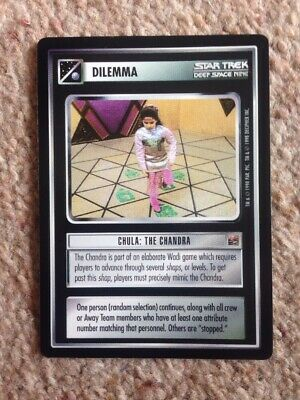 Star Trek Deep Space Nine Series Trading Card Dilemma Chula: The Chandra No Res
