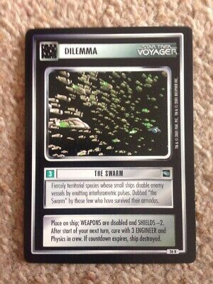 Star Trek Voyager Series Trading Card Dilemma The Swarm No Res
