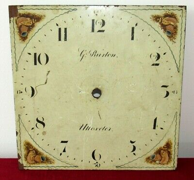 English 'W&H' Antique 30 Hour Grandfather/Longcase Clock Hand Painted 10in Dial