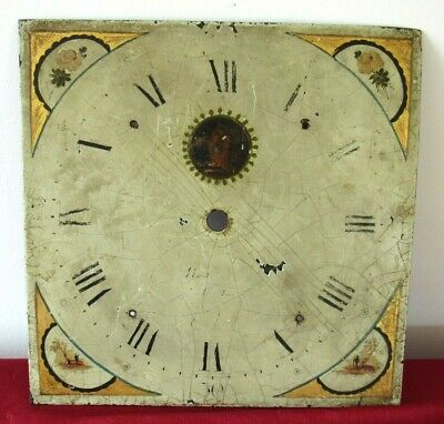 Nice Antique 30 Hour Grandfather/Longcase Clock Hand Painted 11in Dial