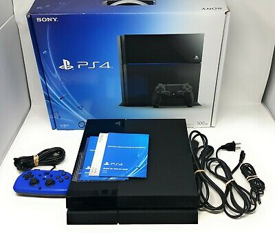 Sony PlayStation 4 500 GB Gaming Console, Black [w/ controller, box, cables] PS4