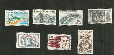 France 1983 Lot De Timbres Obliteres Collection