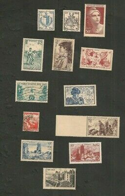France 1945/1947 Lot De Timbres Neufs & Obliteres Collection