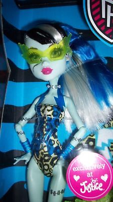 Mattel MONSTER HIGH Justice Exclusive Frankie Stein Swim Class DOLL Toy nib nice