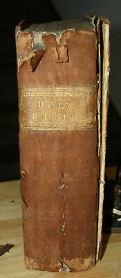 1753 antique Holy Bible  266 YEARS OLD!!