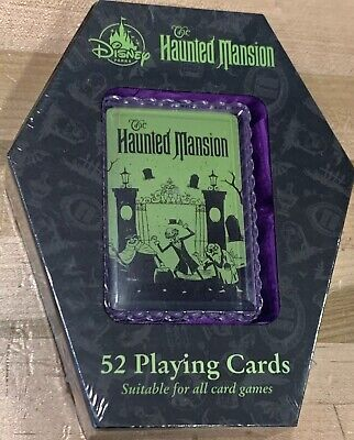 Disney Parks Resort 50th Haunted Mansion 52 Playing Cards New In Box Rare