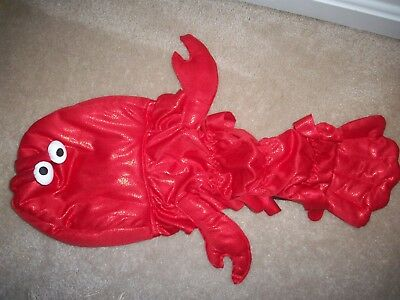 """new LOBSTER Dog Halloween Costume Large Clothes Fetchwear 16"""" Boxer Lab sized"""