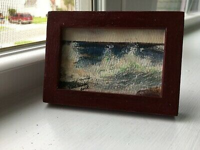 "Ellablanche's Art: reproduction of her own painting, 2 x 3"": California Surf"