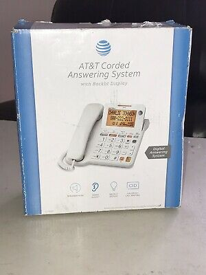 AT&T CL4940 Corded Answering System Phone Backlit Display Large Buttons