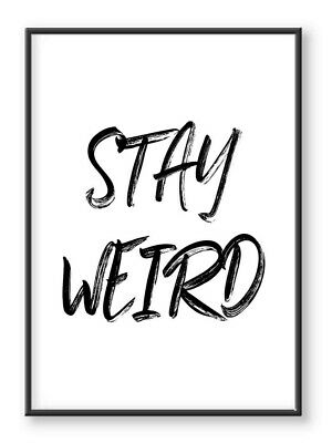 Stay Weird Wall Art Print, Funny Quote Print, Typography Print, Home Decor