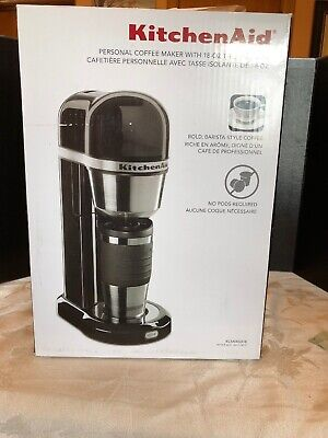 New KitchenAid Personal Coffee Maker Black kcm0402ob included 18 oz thermal mug