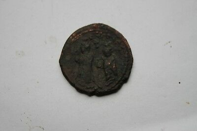 ANCIENT BYZANTINE PHOCAS BRONZE FOLLIS COIN 7th CENTURY AD