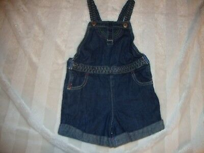 Girls Vintage Look Braided Rainbow Stitch Denim Jean Shortalls Oshkosh B'Gosh 4