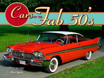 Cars Of The Fab 50S - 2020 Wall Calendar - Brand New - 142659