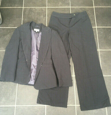 Womens size 8 dark grey Marks & Spencer smart trouser suit