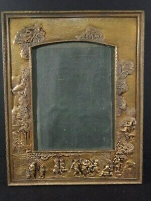 Antique Victorian Solid Brass English Scenic Picture Photo FRAME weighs 3.7 lbs