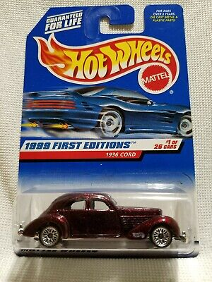 Hot Wheels 1936 Cord 810 Westchester. Rare,HTF! '99 First Editions Srs #1 of 26.