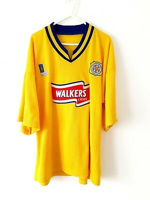 Leicester City 3rd Shirt 1996. XL. Yellow Adults Short Sleeves Football Top Only