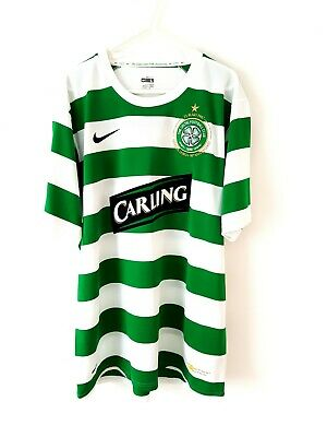 Celtic Home Shirt 2007. Large. Nike White Adults Football Top Only Short Sleeves