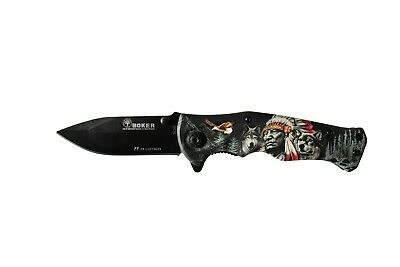Boker  – B048 Siberian Wolf Folding Pocket Knife (For Survival/Camping/Hunting)