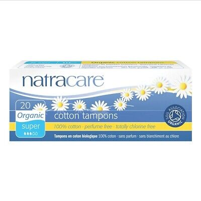 NATRACARE - Organic All Cotton Tampons Super - 20 Tampons
