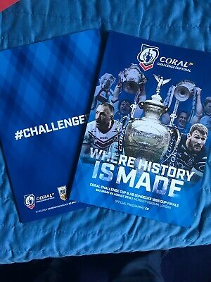 Coral Challenge & Sundecks 1895 Cup Finals Programme At Wembley 24/08/2019