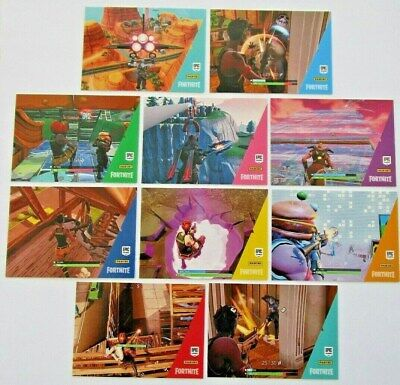 10 FORTNITE Trading Cards Series 1 #1-10 BASE Cards Panini NEW