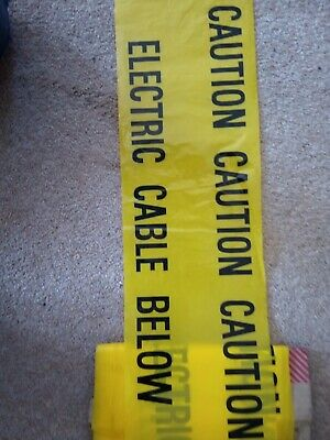 Caution Underground Warning Tape Electric Cable Below Buried Cable Cut Lengths