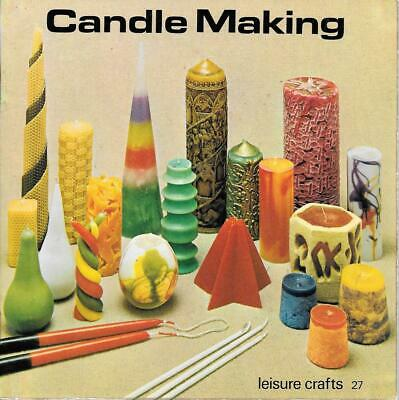 Vintage 1978 leisure crafts #27 candle making book basic techniques retro design