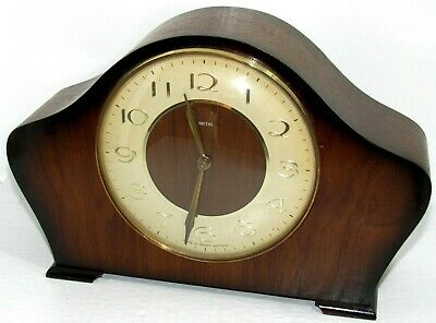 Nice 1950's 8 Day Smiths Floating Escapement Striking Mantle Clock.