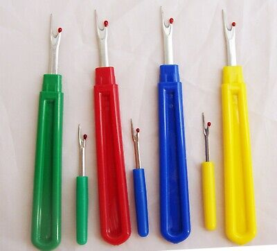 Set of 2 Seam Rippers Large + Small safety caps Stitch Unpicker Quick Thread UK