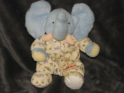 Vintage Carters John Lennon Stuffed Plush Elephant Rattle Baby Lovey Toy Nwot