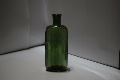 """KR-unlisted poison bottle South African 6 3/4"""" forest green 8oz"""