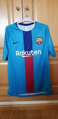wholesale dealer 084fd 97ca5 CAMISETA BARCELONA PRE Match Shirt 2018-2019 Trikot size L Maglia Original  Nike