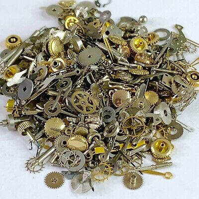 30 Grams Watch Parts Steampunk Wheels Gears Altered Art Watchmaker Lot Small NOS