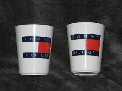 Vintage Tommy Hilfiger Flag logo small plastic cups Baby Toddler Kid or Bathroom