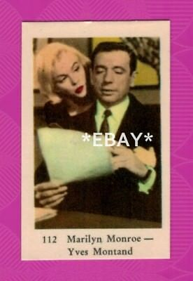 Marilyn Monroe and Yves Montand - 1962 Swedish vintage trading card