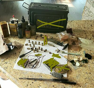 US German? Military WW2 Rifle Cleaning Kit LOT Oil shell casing KURTZ Mkb42 MP44