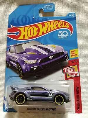 Hot Wheels 2015 Custom Ford Mustang. Rare,HTF! 50th Ann. '18 Then and Now #9/10.
