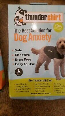 THUNDERSHIRT for Dogs RELIEVES STRESS & ANXIETY grey sm, med, lg., ex lg.