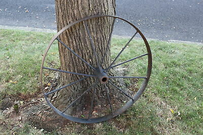Antique Wagon Wheel Tractor Automobile #3 12 Spokes 32 Inches Tall Farm Decor