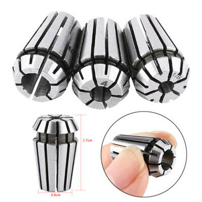3xER16 Spring Collet Set For CNC Workholding Chuck Milling Lathe 3.175mm 4mm 6mm