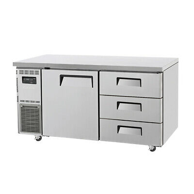 Turbo Air Drawer Under Counter Side Prep Table Refrigerator - 425L