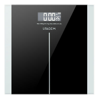 Leadzm 400lb LCD Digital Body Weight Scale Bathroom Fitness 180kg Auto Switch