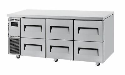 Turbo Air Undercounter 6 Drawer Chiller- 538L Capacity