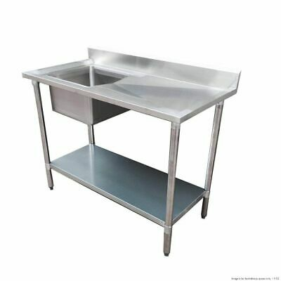 Economic 304 Grade Stainless Steel Single Sink Benches 700mm Deep