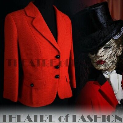 JACKET COAT VINTAGE RIDING VICTORIAN MISTRESS 40s 50s RED 18 16 14 L XL VAMP